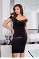 Jessica Wright Joanna Black Velvet Bodycon Dress