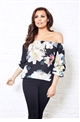 Jessica Wright Mayce floral frill sleeve top