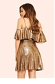 Jessica Wright Rose Gold Anaya Cold Shoulder Skater Dress