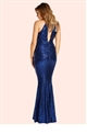 Jessica Wright Erini Navy All Over Sequin High Neck Maxi Dress