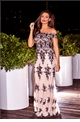 Jessica Wright Paola Nude VIP Sequin Embroided Mesh Bardot Maxi Dress