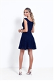 Sistaglam Briella Navy Lace Bardot Prom Dress