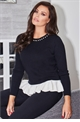 Jessica Wright Morena black sleeve and white frill detail