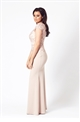 Jessica Wright Zendana nude lace maxi dress
