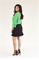 Jessica Wright Gennie bottle Green tie bow long sleeve shirt