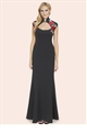Sistaglam Viola Black Chinese Trim Maxi Dress