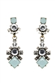 Lipstick Boutique crystal & mint gem drop earrings