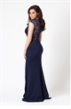 Jessica Wright Mariella navy lace maxi dress
