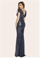 jessica wright celebrity long dress in navy color