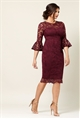 Jessica Wright Luisa Berry lace dress with bell sleeve bodycon dress