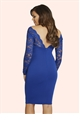 Jessica Wright Petunia Cobalt Dress