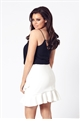 Jessica Wright Lauriell white frill skirt