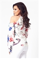 Jessica Wright Sofie multi off the shoulder long sleeve floral top