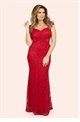 Jessica Wright Rebecca Red Sequin Lace Maxi Dress