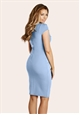Jessica Wright Vicky Pale Blue Pleated Bodycon Dress