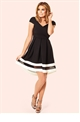 Jessica Wright Robyn Monochrome Bardot Skater Dress