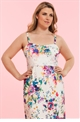 Lipstick Boutique Lipstick Curvy Orla strapless Maxi Dress in Floral