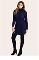 Jessica Wright Naya Navy Knit Jumper