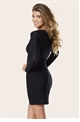 SISTAGLAM AMANDA NAVY SLEEVE BODYCON  DRESS