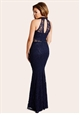 Jessica Wright Sandy Navy Sequin Halter Maxi Dress
