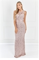 Sistaglam Amaris Nude Lace Bridesmaid Dress