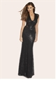 Jessica Wright Becky Sequin Maxi Cocktail Dress