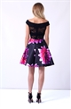 Sistaglam Clariya Multicolour Floral Bardot Prom Dress