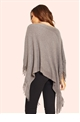Jessica Wright Terry Grey Sequin Poncho Jumper