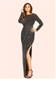 Jessica Wright Paloma Lurex Cowl Back Maxi Dress