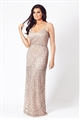 Jessica Wright Clementina nude pattern slim fit maxi dress