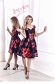 Rose Red and Black Floral Prom Dress  from the occasion wear and wedding collection of Sistaglam