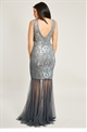 Jessica Wright Lydia Silver Sequin Maxi Dress