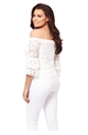 Jessica Wright White Gigi Lace Top