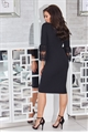 Jessica Wright Rae lace trim bell sleeves black bodycon dress