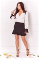 Sista Glam Loves Jessica Wright Emelee White top long sleeve with lace detail on shoulder and cuffs