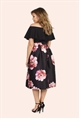 Jessica Wright Alexus Black Floral Prom Skirt
