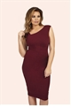 Jessica Wright Toni Burgundy Ruched Bodycon Dress