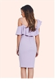 Jessica Wright Lilah Lilac Frill Bodycon Dress