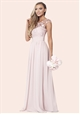 Beverley Rose Pink Lace Maxi Braidsmaid Dress from Sistaglam's Bridal shop