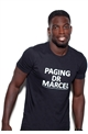 Sistaglam Marcel Black 'Paging dr marcel' with caviar beads T shirt.