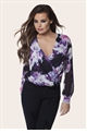 JESSICA WRIGHT ANASTACIA FLORAL PRINT FRONT WRAP BLOUSE.