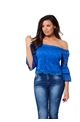 Jessica Wright Cobalt Gloria Bardot Top
