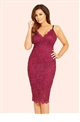 Jessica Wright Harriet Berry Scalloped Sequin Lace Bodycon Dress