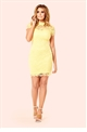 Jessica Wright Kendall Lemon All Over Lace Bodycon Dress