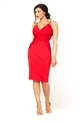 Jessica Wright Santana red lace sweet heart neckline with spaghetti strap bodycon