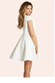 Jessica Wright Mollie White Scuba Skater Dress