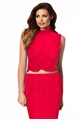JESSICA WRIGHT VIENNA RED LACE TOP