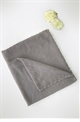 Sistglam Fredi grey delicate occasion scarf with pearl edging