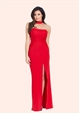 Jessica Wright Sassia Red Strapless Choker Maxi Dress..