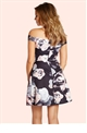Jessica Wright Zafia Black Skater Dress